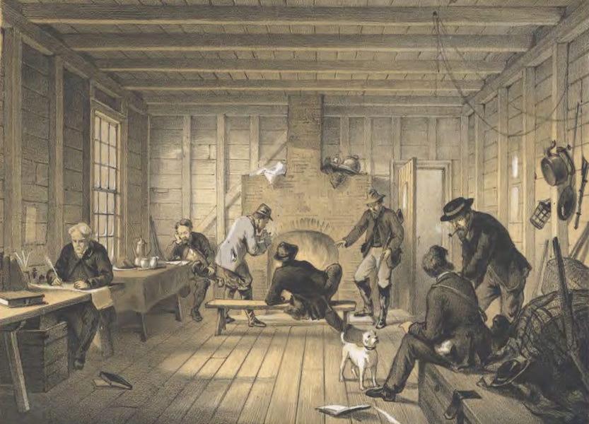 The Atlantic Telegraph - Telegraph House, Trinity Bay, Newfoundland : Interior of Mess-Room 1858 (1865)