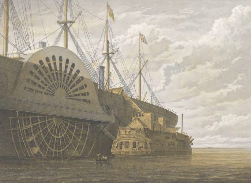 The Atlantic Telegraph - The Old Frigate with Her Freight of Cable Alongside the Great Eastern at Sheerness (1865)
