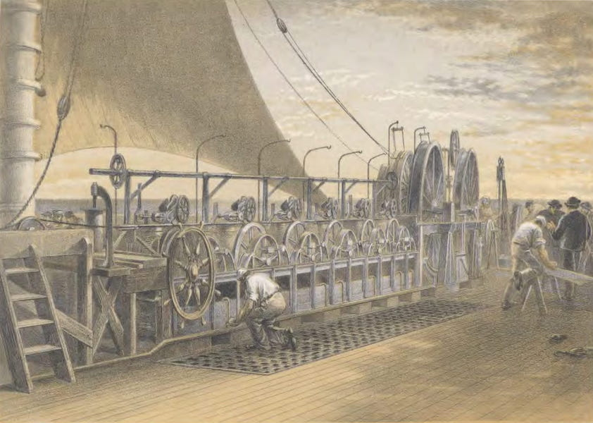 The Atlantic Telegraph - Paying-Out Machinery (1865)