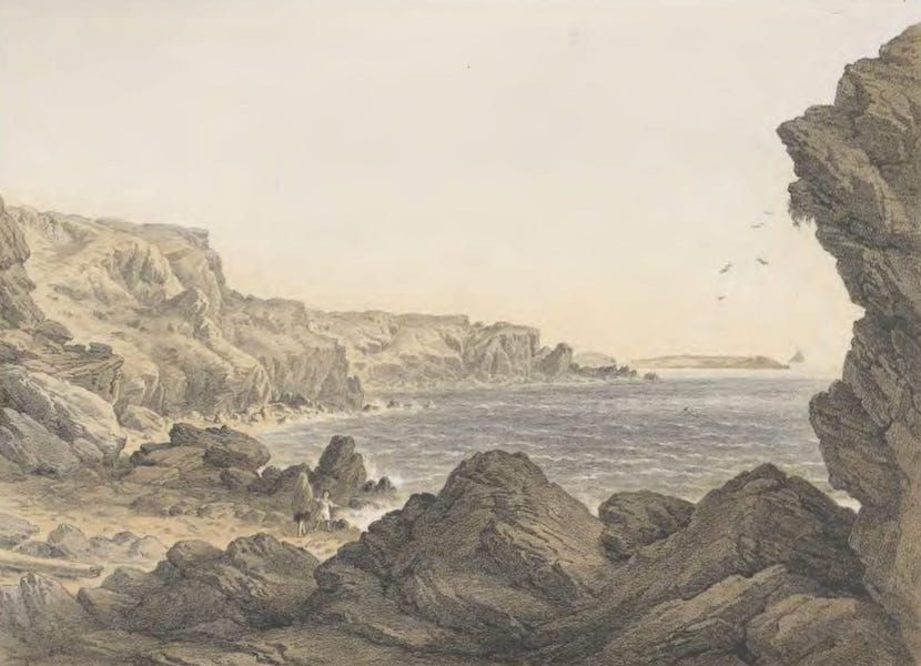 The Atlantic Telegraph - Foilhummerum Bay, Valentia, Looking Seawards from the Point at Which the Cable Reaches the Shore (1865)