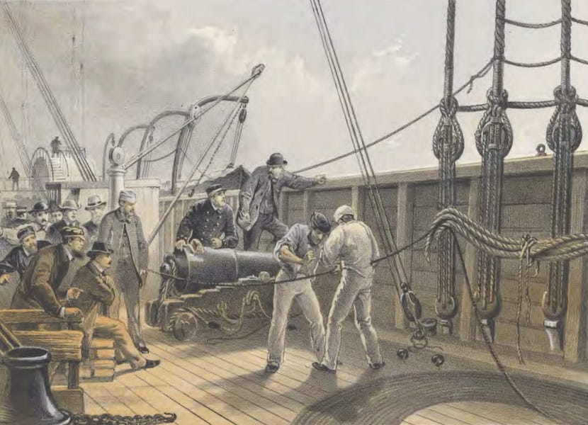 The Atlantic Telegraph - Splicing the Cable (After the First Accident) on Board the Great Eastern, July 25 (1865)
