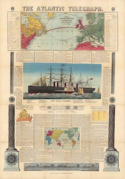 The Atlantic Telegraph [Chart] - The Atlantic Telegraph [Chart] (1865) (1865)