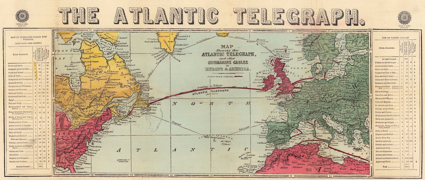 The Atlantic Telegraph [Chart] - The Atlantic Telegraph [Map] (1865) (1865)