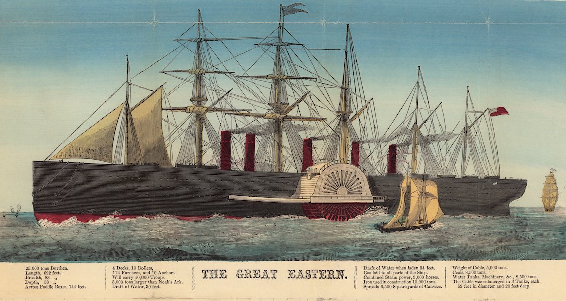 The Atlantic Telegraph [Chart] - The Great Eastern (1865) (1865)
