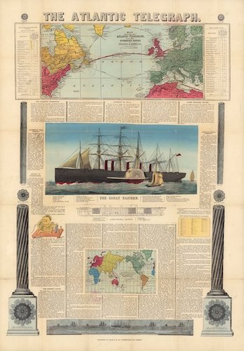 David Rumsey Cartography - The Atlantic Telegraph [Chart]