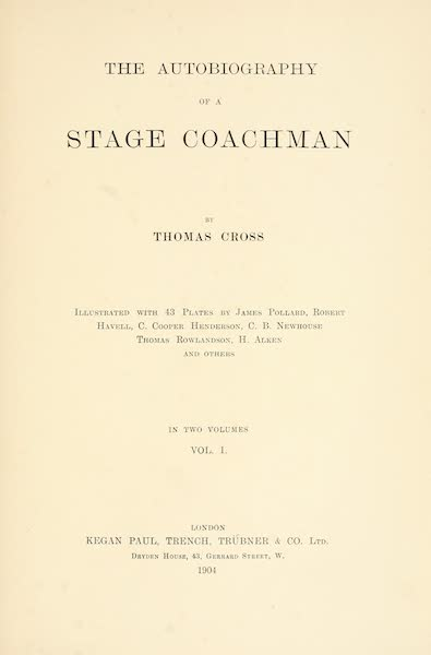 The Autobiography of a Stage Coachman Vol. 1 - Title Page (1904)