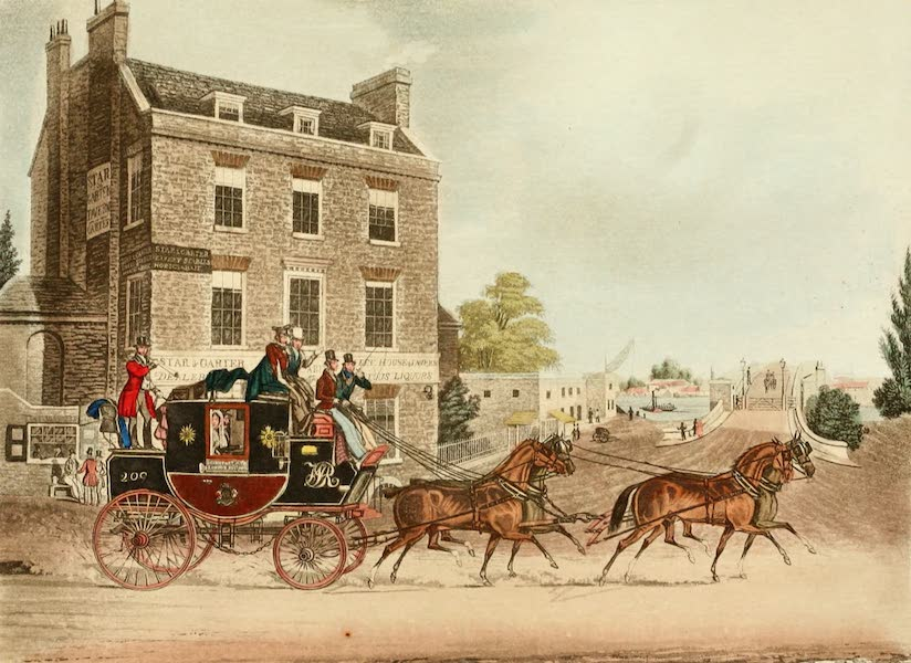 The Autobiography of a Stage Coachman Vol. 2 - Quicksilver Royal Mail Passing Kew Bridge (1904)