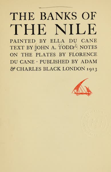 The Banks of the Nile - Title Page (1913)