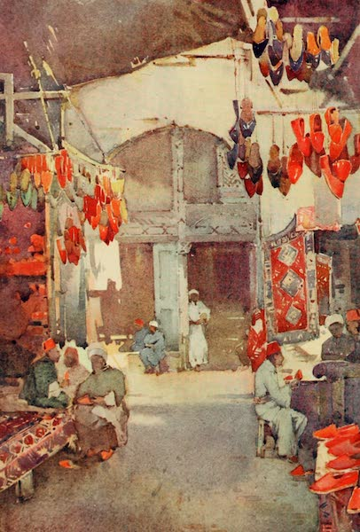The Banks of the Nile - The Shoe Bazaar, Cairo (1913)