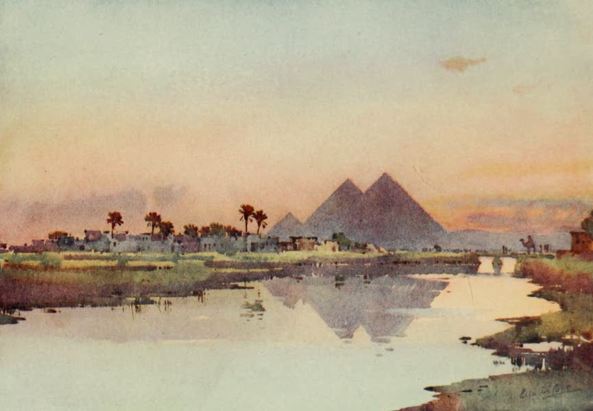 The Banks of the Nile - The Second Pyramid, Giza (1913)