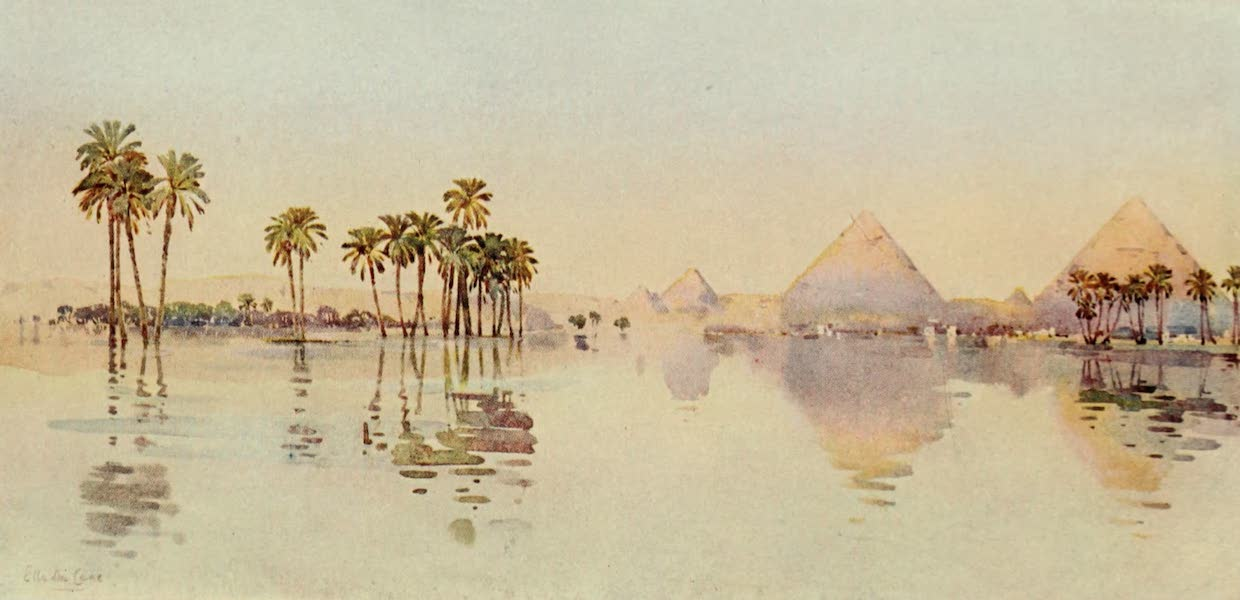 The Banks of the Nile - The Third Pyramid, Giza (1913)