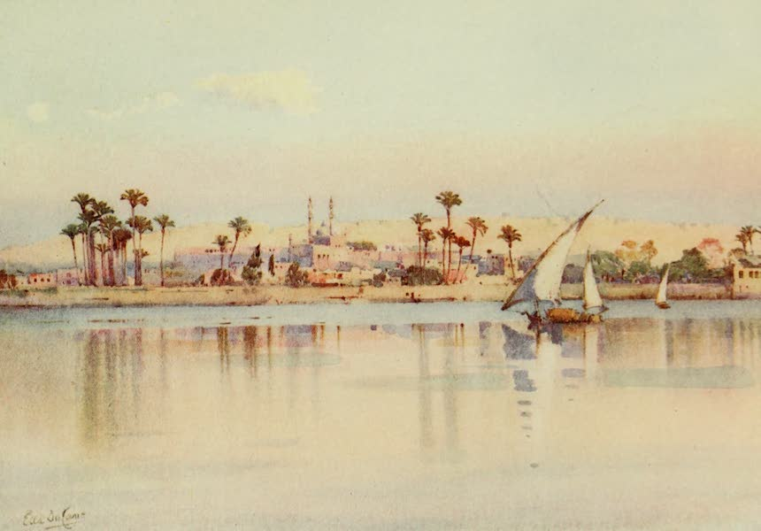 The Banks of the Nile - Cairo and the Citadel from Giza (1913)