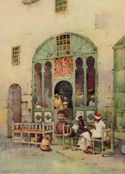 The Banks of the Nile - An Arab Cafe, Cairo (1913)