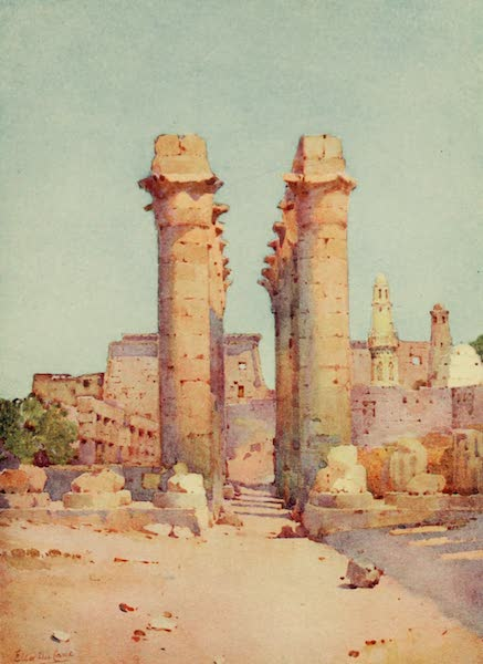 The Banks of the Nile - The Colonnade, Temple of Luxor (1913)