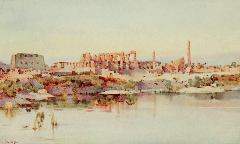 The Banks of the Nile - The Temple of Karnak (1913)