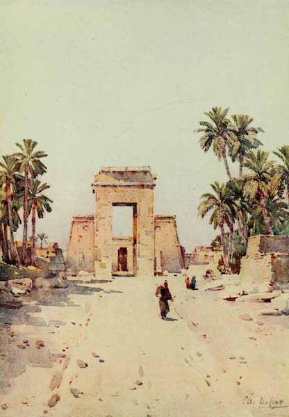 The Banks of the Nile - The Gateway of Euergetes, Karnak (1913)