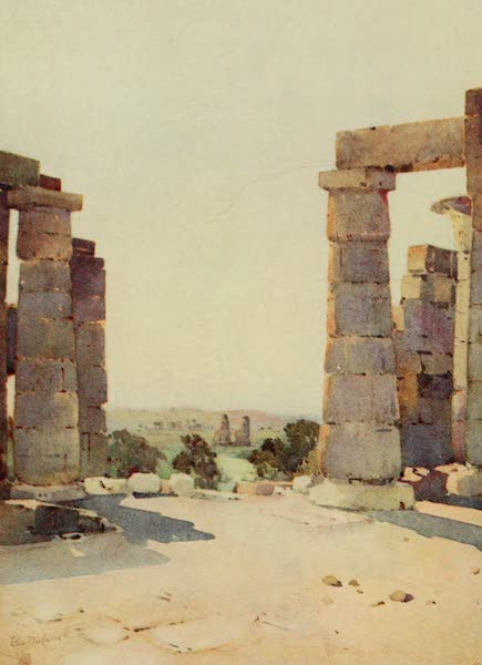 The Banks of the Nile - The Colossi from the Ramesseum in the Early Morning (1913)