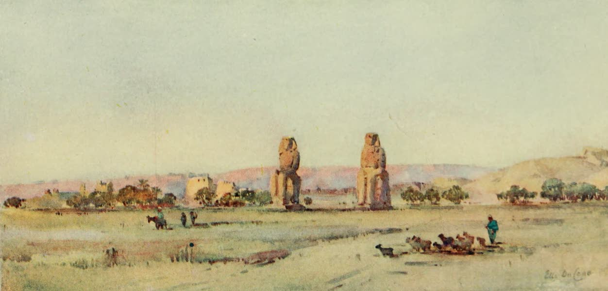 The Banks of the Nile - The Colossi (1913)