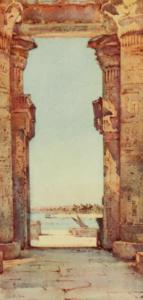 The Banks of the Nile - The Great Temple, Kom Ombo (1913)