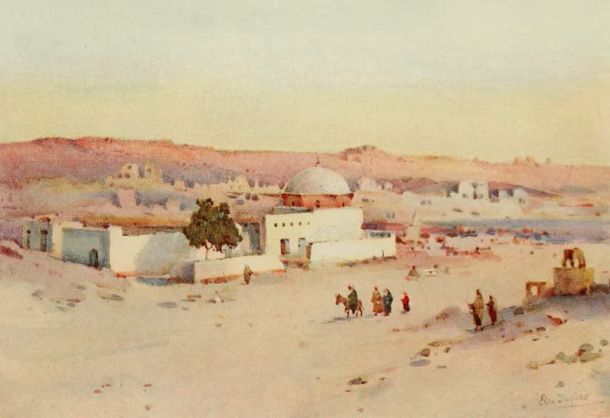 The Banks of the Nile - The Road from Assuan to Shellal (1913)