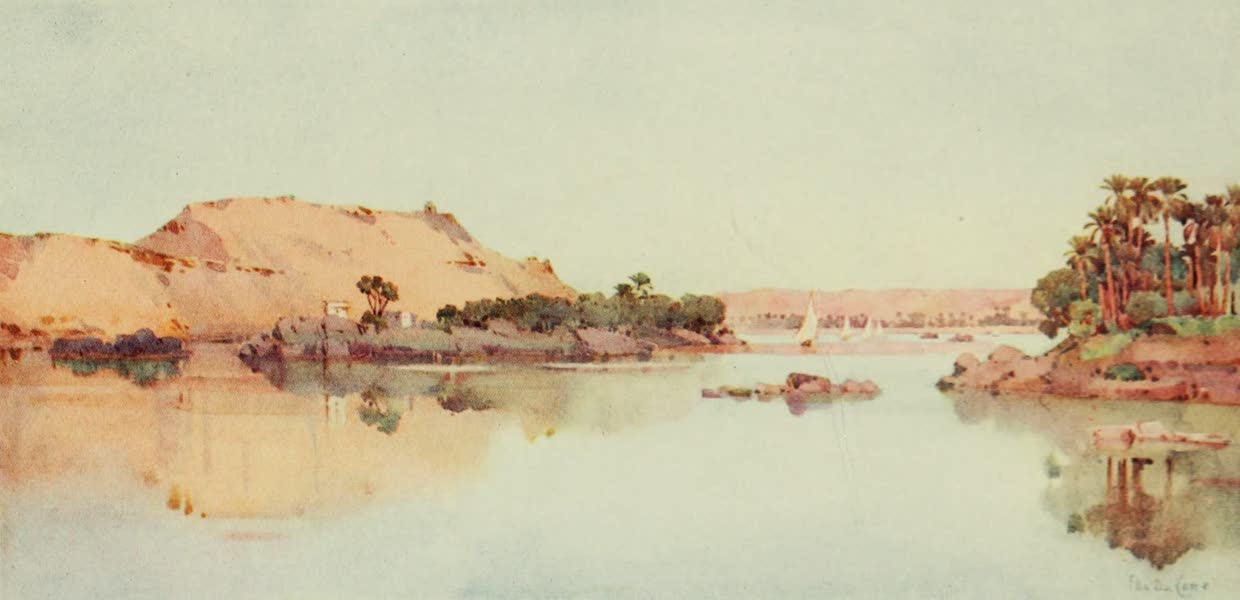 The Banks of the Nile - The Sirdar's Island and Arab Sheikh's Tomb from Elephantine (1913)