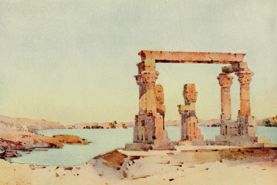 The Banks of the Nile - Temple of Kertassi, Nubia (1913)
