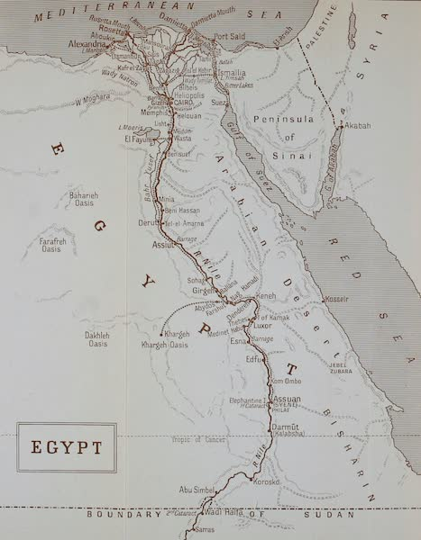 The Banks of the Nile - Sketch Map of Egypt (1913)
