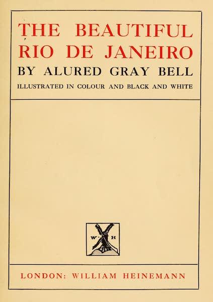 The Beautiful Rio de Janiero - Title Page (1914)