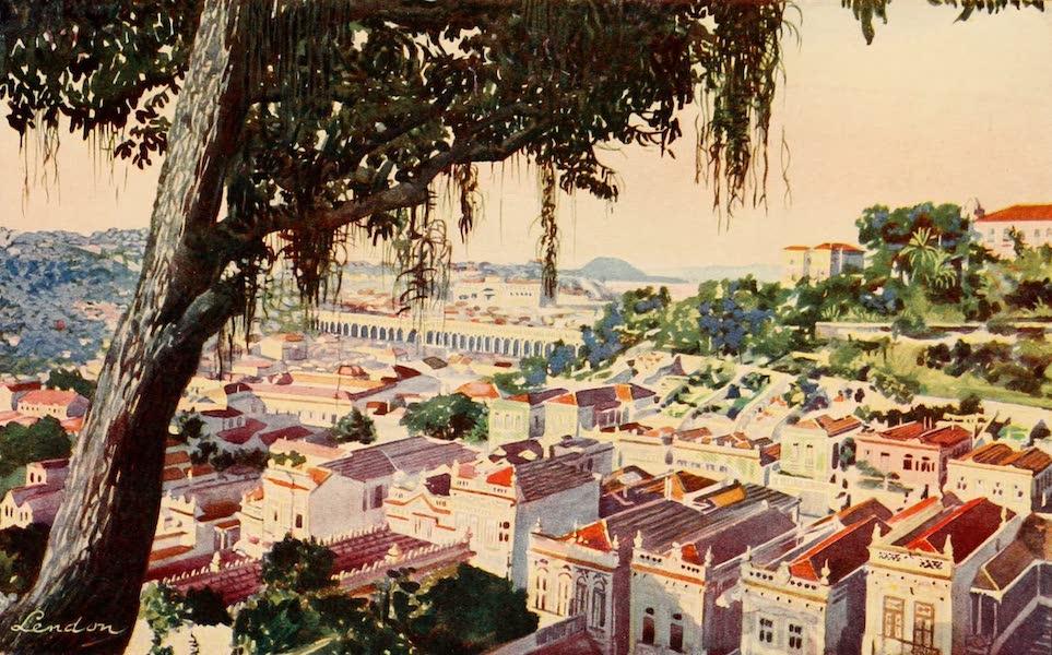 The Beautiful Rio de Janiero - Bird's-eye View of the ancient Carioca Viaduct (1914)