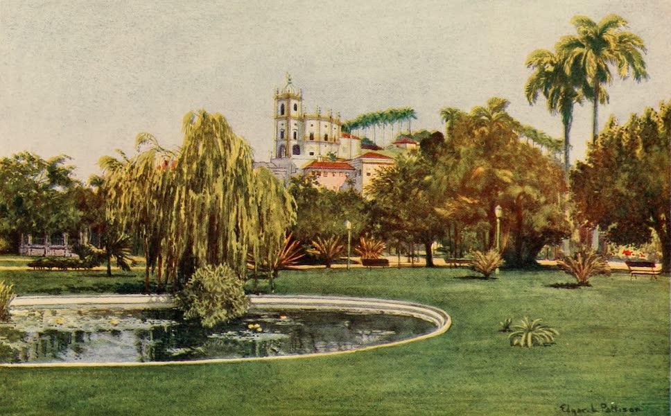 The Beautiful Rio de Janiero - Corner of the Praca da Gloria (1914)