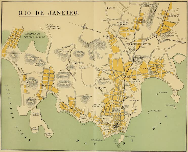 The Beautiful Rio de Janiero - Map of Rio de Janeiro (1914)