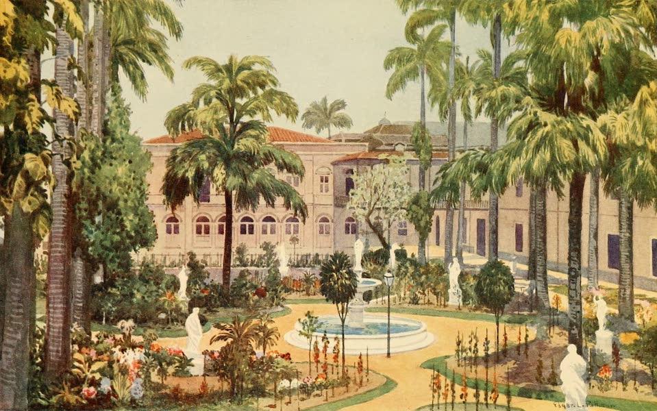 The Beautiful Rio de Janiero - Garden of the Itamaraty Palace (1914)