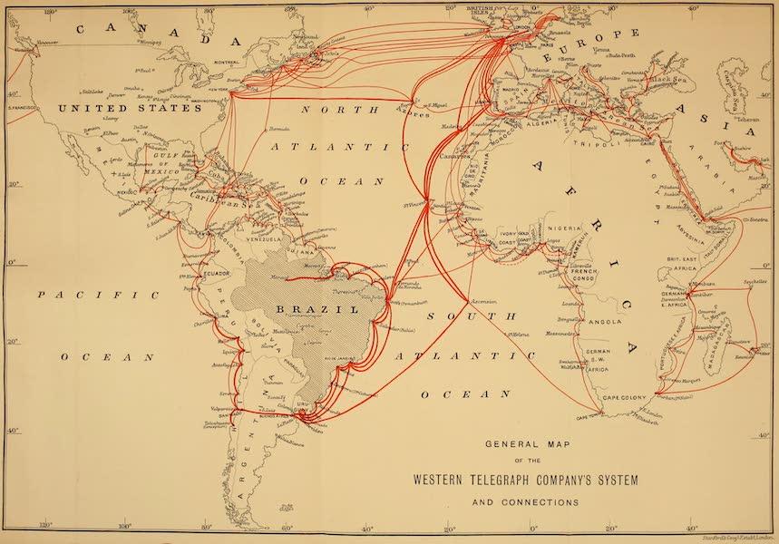 The Beautiful Rio de Janiero - General Map of the Western Telegraph Company's System (1914)