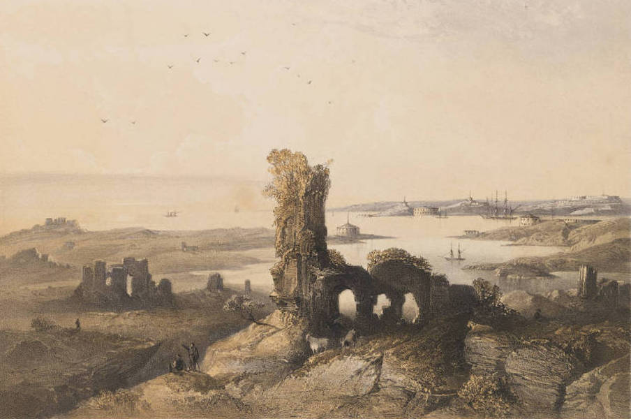 The Beautiful Scenery and Chief Places of Interest throughout the Crimea - Remains of the Ancient Chersonese, near Sebastopol (1856)
