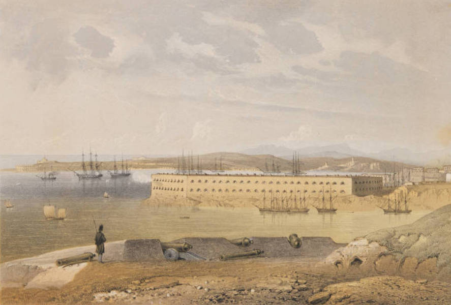 The Beautiful Scenery and Chief Places of Interest throughout the Crimea - View of Fort St. Nicholas (1856)