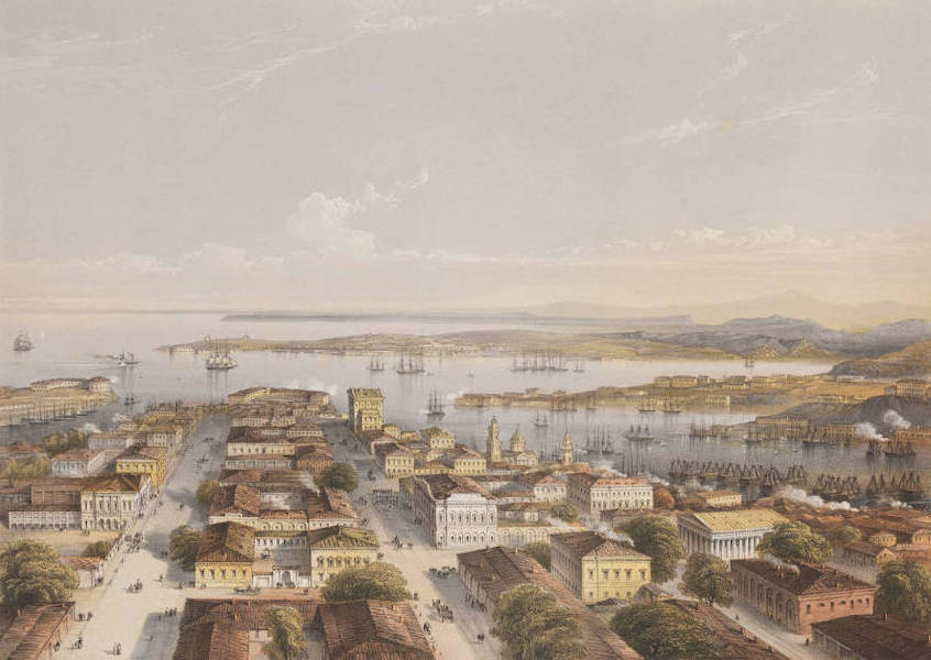 The Beautiful Scenery and Chief Places of Interest throughout the Crimea - Sebastopol, Taken from a Watch Tower in the Centre of the Town (1856)