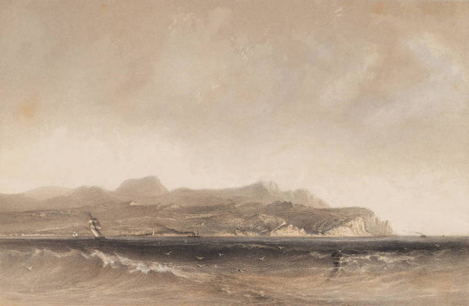 The Beautiful Scenery and Chief Places of Interest throughout the Crimea - A General View of the Coast Extending from Cape Fiolente to Sebastopol (1856)
