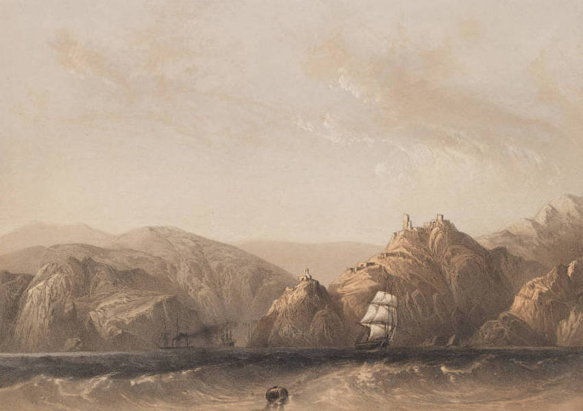 The Beautiful Scenery and Chief Places of Interest throughout the Crimea - Entrance to the Harbour of Balaclava (1856)