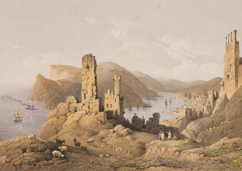 The Beautiful Scenery and Chief Places of Interest throughout the Crimea - General View of Balaclava, from the Genoese Forts (1856)