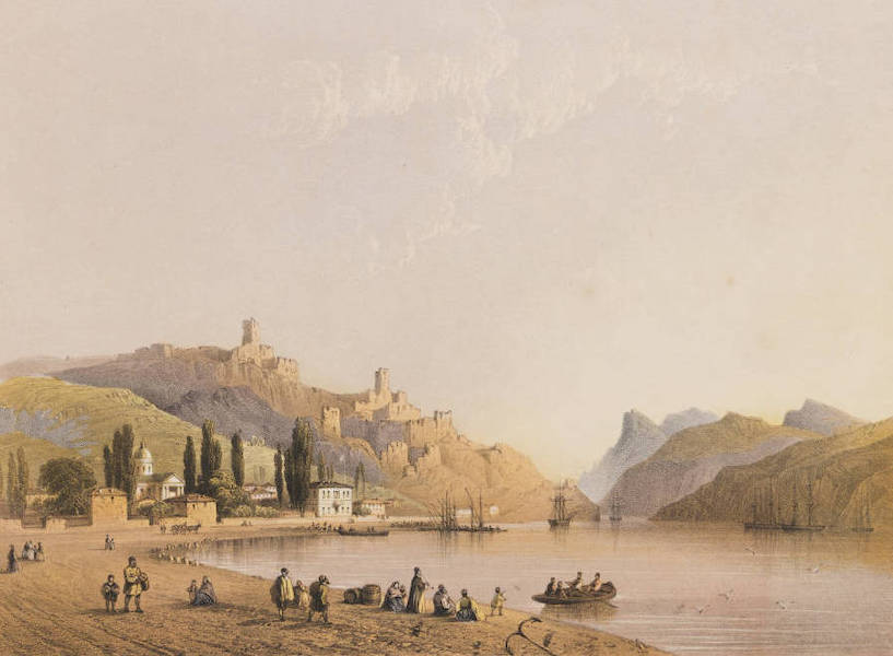 The Beautiful Scenery and Chief Places of Interest throughout the Crimea - Balaclava, Seen from the Shore (1856)