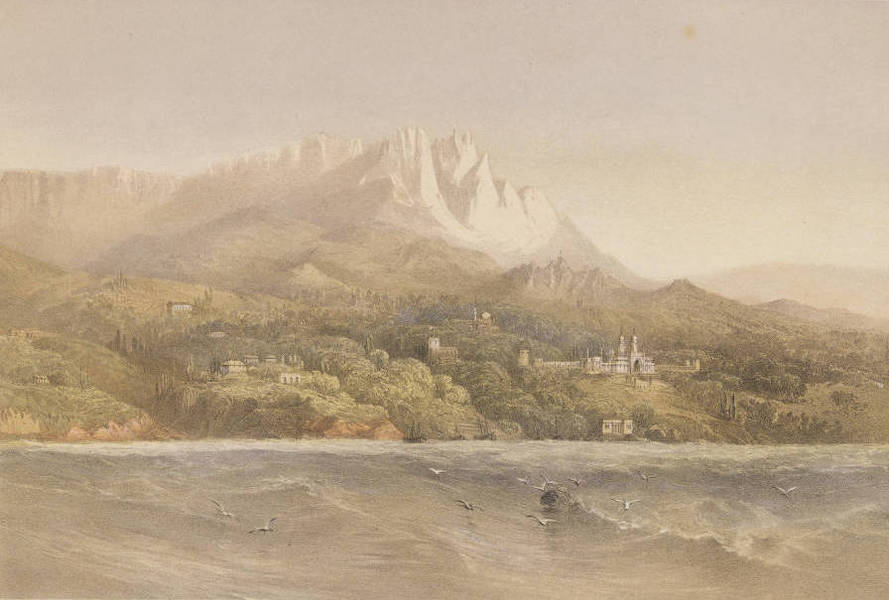 The Beautiful Scenery and Chief Places of Interest throughout the Crimea - Prince Woronzoff's Palace in Alupka (1856)