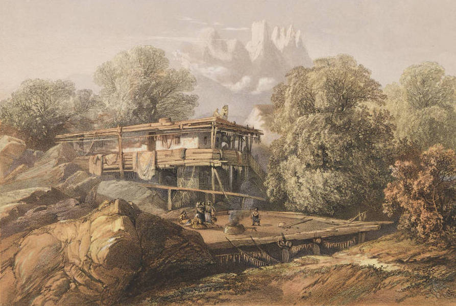 The Beautiful Scenery and Chief Places of Interest throughout the Crimea - A Tartar House in the Village of Alupka (1856)