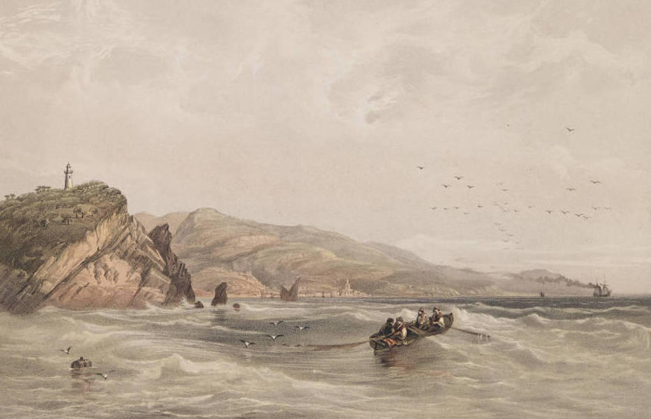 The Beautiful Scenery and Chief Places of Interest throughout the Crimea - Cape and Lighthouse of St. Theodore (1856)