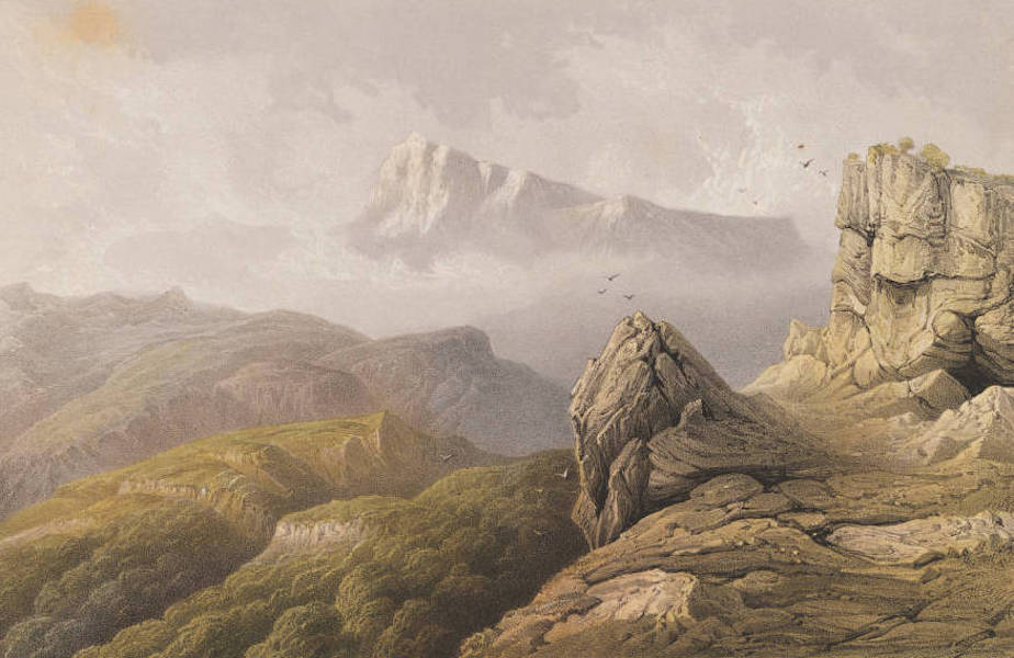 The Beautiful Scenery and Chief Places of Interest throughout the Crimea - Mount Tchatyr-Dagh (1856)