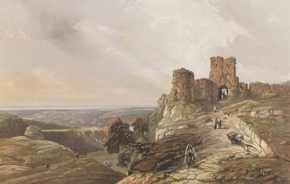The Beautiful Scenery and Chief Places of Interest throughout the Crimea - Remains of the Genoese Forts of Ciufat-Kale (1856)