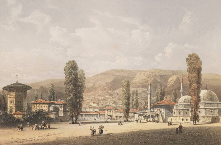 The Beautiful Scenery and Chief Places of Interest throughout the Crimea - Bakchi-Sarai (1856)