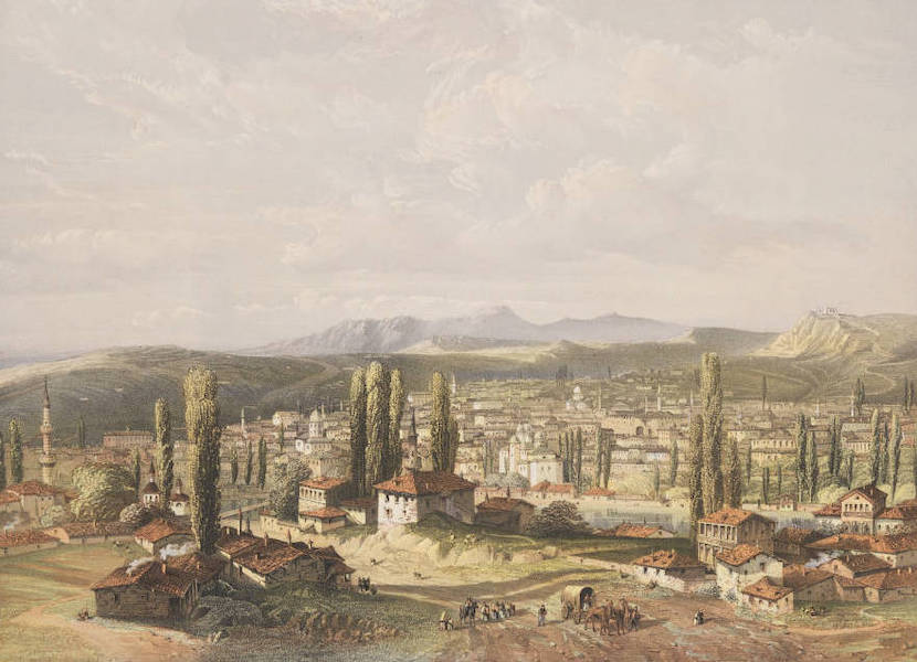 The Beautiful Scenery and Chief Places of Interest throughout the Crimea - General View of Kara-Su-Bazar (1856)