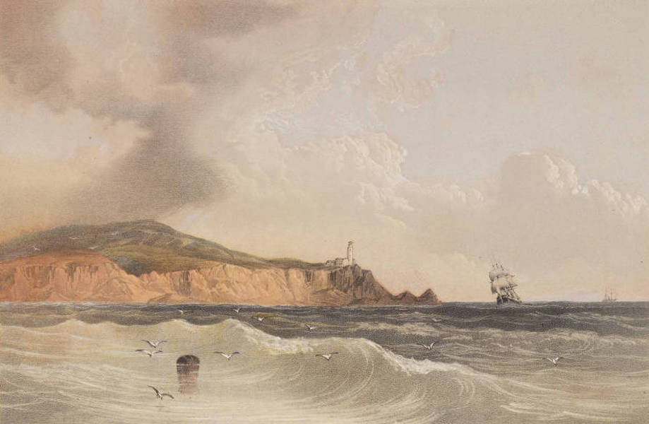 The Beautiful Scenery and Chief Places of Interest throughout the Crimea - Cape Tokli, on the Gulf of Kertch (1856)