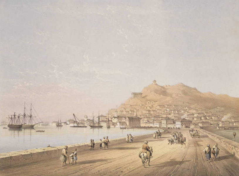 The Beautiful Scenery and Chief Places of Interest throughout the Crimea - Kertch, seen from the high road to Yenikale (1856)