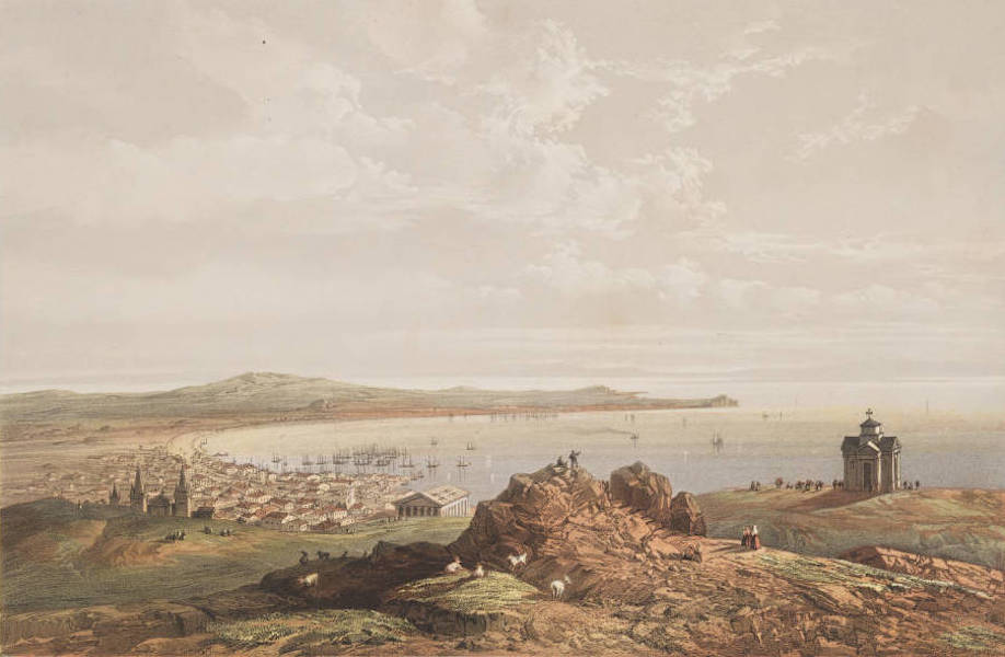 The Beautiful Scenery and Chief Places of Interest throughout the Crimea - A General View of the Gulf of Kertch, seen from Mount Mithridates (1856)